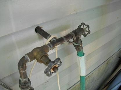 under deck water tap